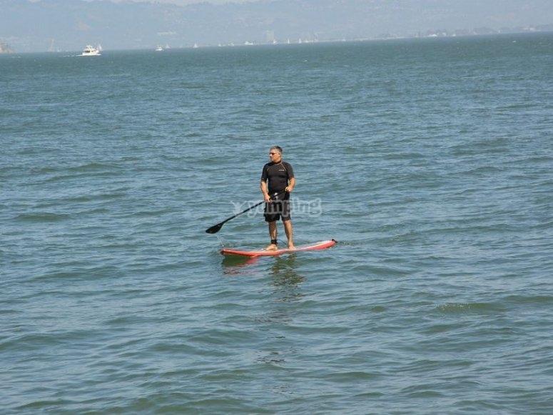 Relajado con la actividad acuática