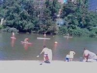 paddle surf en el rio pisuerga