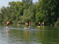 salida de paddle surf en grupo