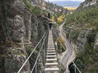 Puente en la ferrata de Priego
