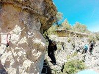 Puente en la ferrata de Cuenca