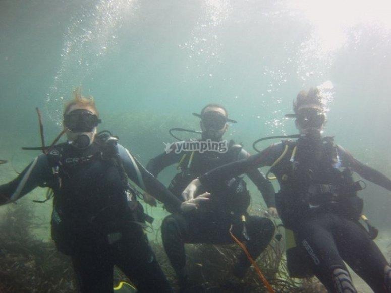 在卡尔佩潜水