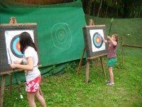Sesion de tiro con arco infantil