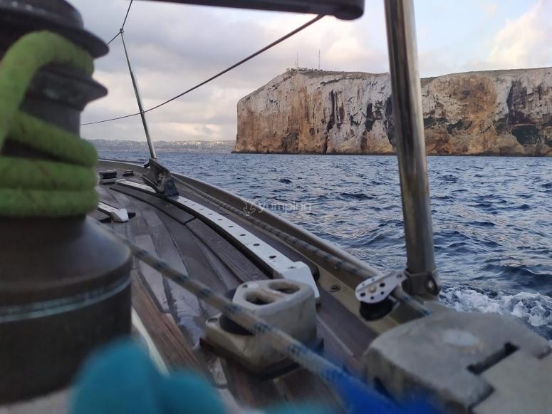 Durante lo sport della vela