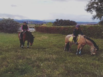 Horse ride for 2 adults and 1 child Villafranc