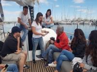 El grupo en el barco