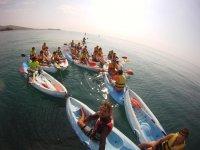 tutti insieme in kayak