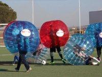 Football bubbles crashing