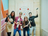 Axe throwing in Madrid for 1 hour