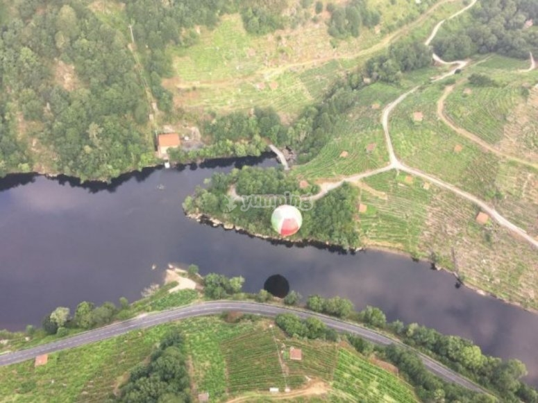 Volando en globo sobre el Mino