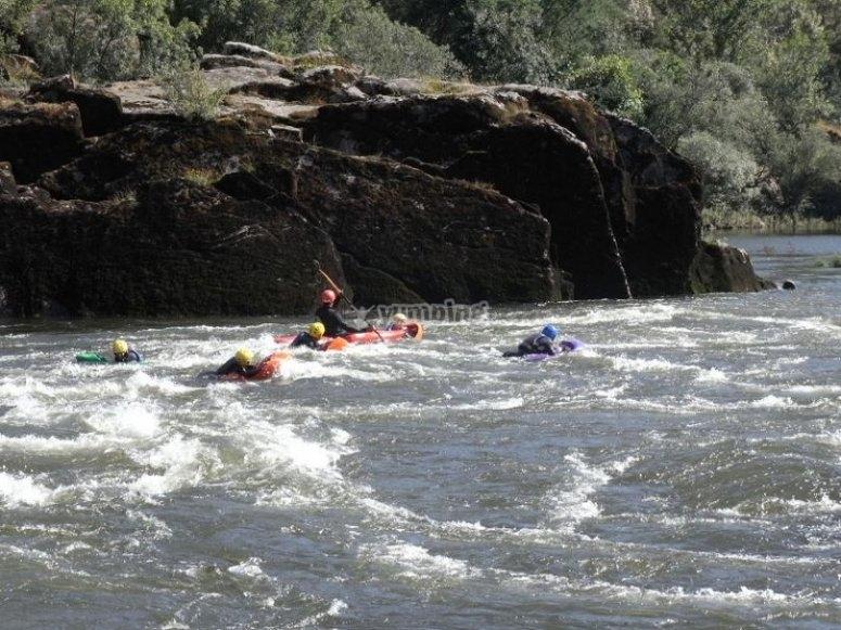 Emoción en el río Miño