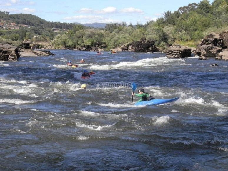 Por el río Miño