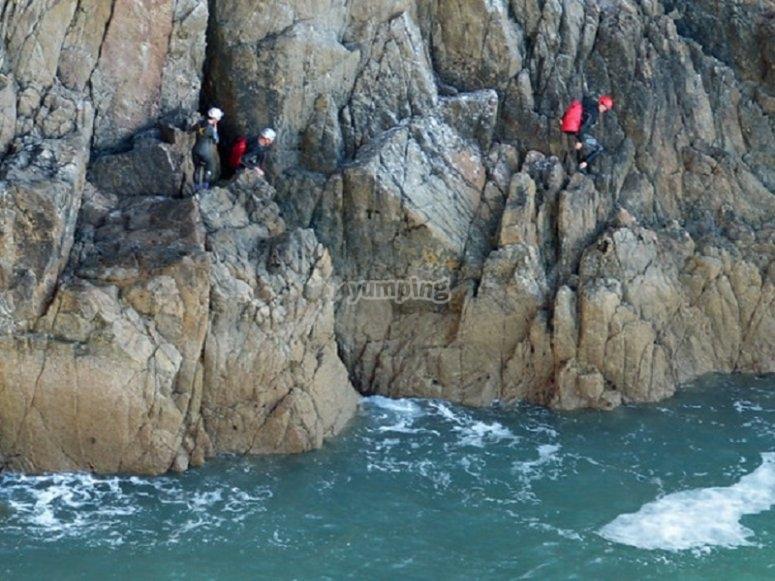 Walking on the rock