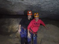 Two girls in the cave