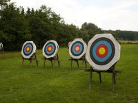 Targets prepared for throwing