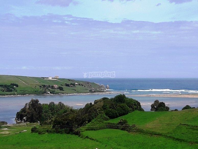 Viste spettacolari della costa della Cantabria