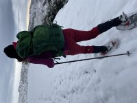 与雪鞋远足者