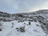 被雪覆盖的雪地穿越