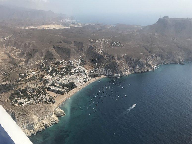 Costa de Almería desde el ultraligero