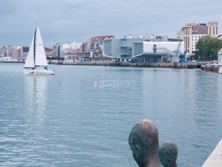 Sailboat in Santander