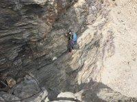 Paredes horizontales en roca