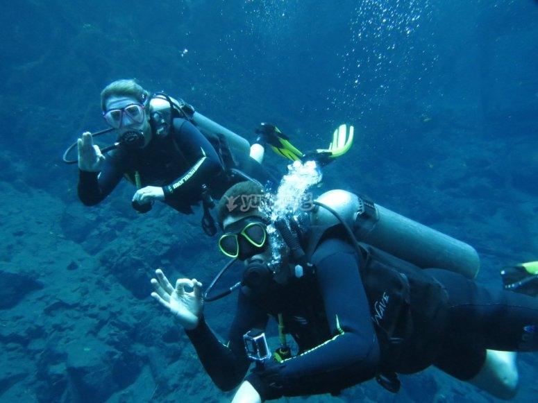 Inmersión de buceo en Granada