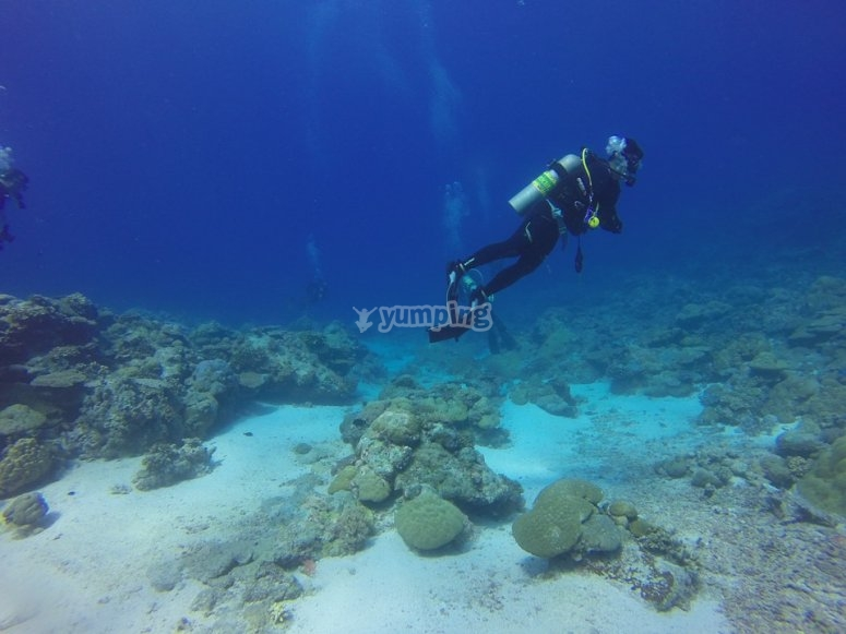 Primera inmersión de buceo