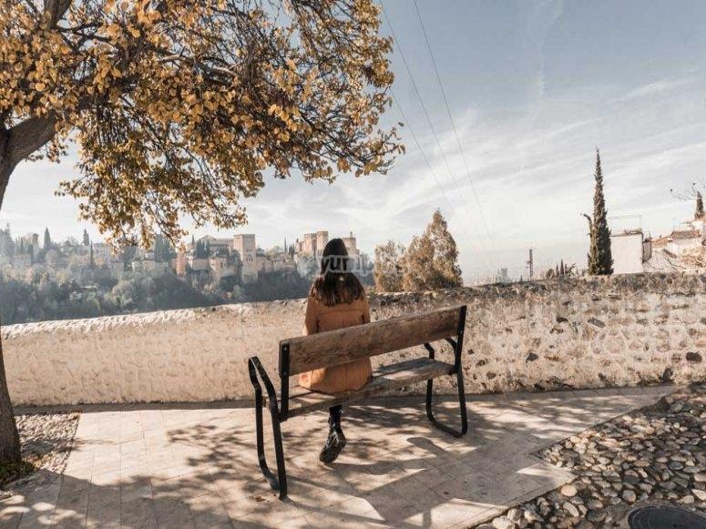 Fermarsi in un punto panoramico di Granada