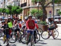 Punto de encuentro de los ciclistas