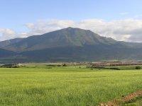 韦斯卡绿色田野山最美丽的风景