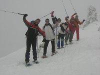 Raquetas de nieve para team building
