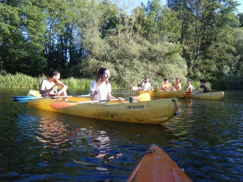 Excursión en canoa por el río Tera