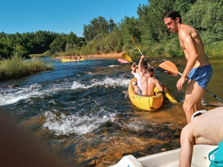 Canoe sul fiume Tera