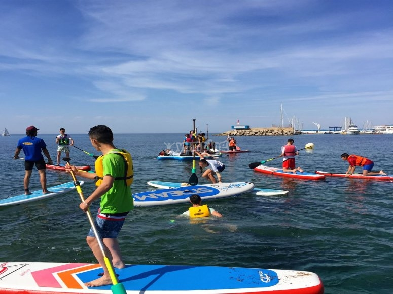 Paddle surf out in Mazarrón