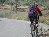 Ciclista por la via verde