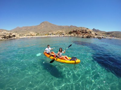 Kayak tour 2 hour around the Mazarrón coast