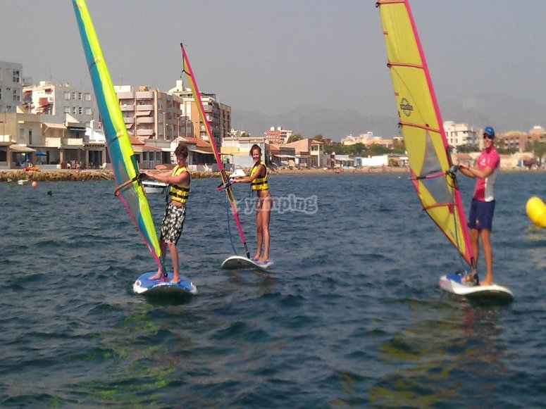 Students of windsurfing