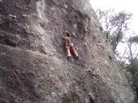 Durante il corso di arrampicata