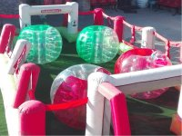 Football with inflatable bubbles
