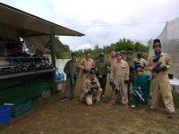 Celebration with paintball game