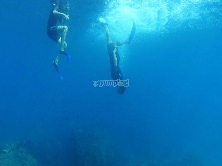 Snorkelling en Cerro Gordo