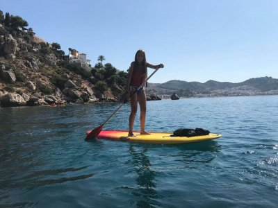 Guided SUP route along the cliffs of Cerro Gordo