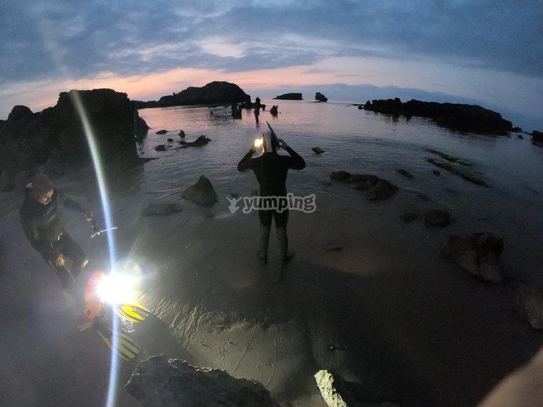 Ris海滩夜间呼吸管