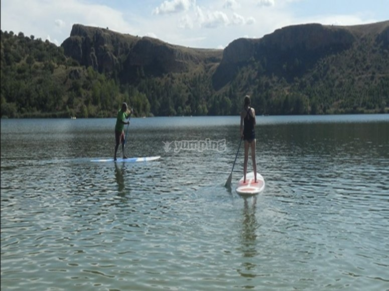 Initiation to paddle surf