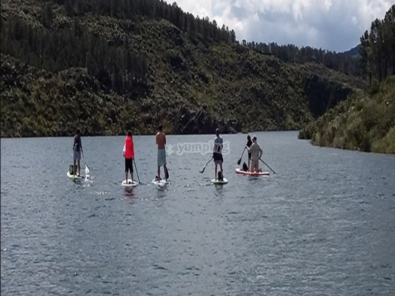 On SUP route with friends