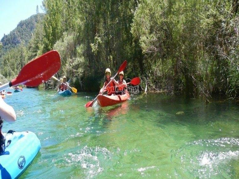 Adventure in a canoe