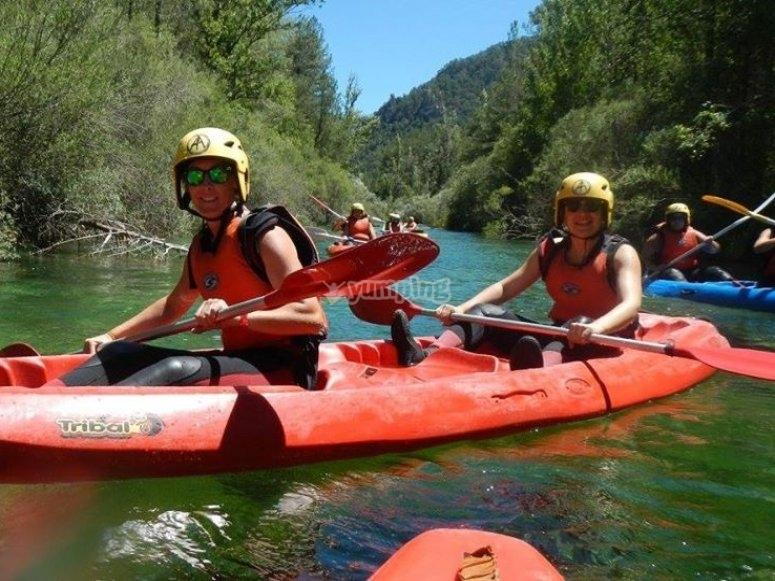 Canoeing in the San Juan reservoir
