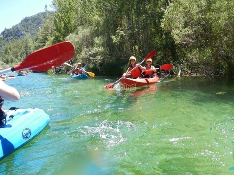 With friends doing the canoeing route