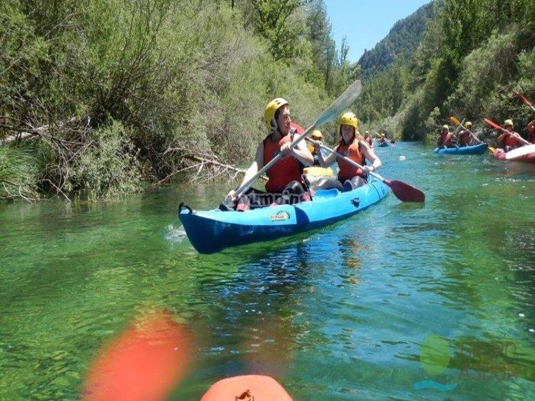 Couple on board the canoe
