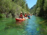 Rental children's canoes in San Juan reservoir 1 h